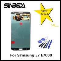 Sinbeda 100 Tested Tela For Samsung Galaxy E7 E7000 LCD Display Touch Amole Screen Digitizer Assembly