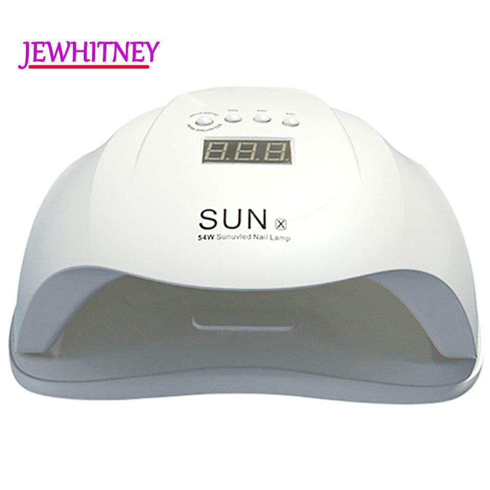 54/48/40/36 watt UV Nagel Lampe LED Lampe Für Maniküre Nagel Trockner Für Alle Gele polnischen Zwei Hand Lampe Mit Infrarot Sensing 10/30/60 s LCD