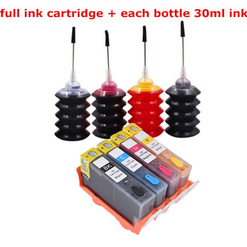 Cartridge for printer hp 178 178XL Refillable ink Cartridge for HP 5510 5515 6510 7510 B109a B109n B110a printer 178 xl ink cartridge with new chip for hp photosmart 5510 5520 6510 6520 7520 3070a 3520 4610 4620 ink jet printer for hp 178