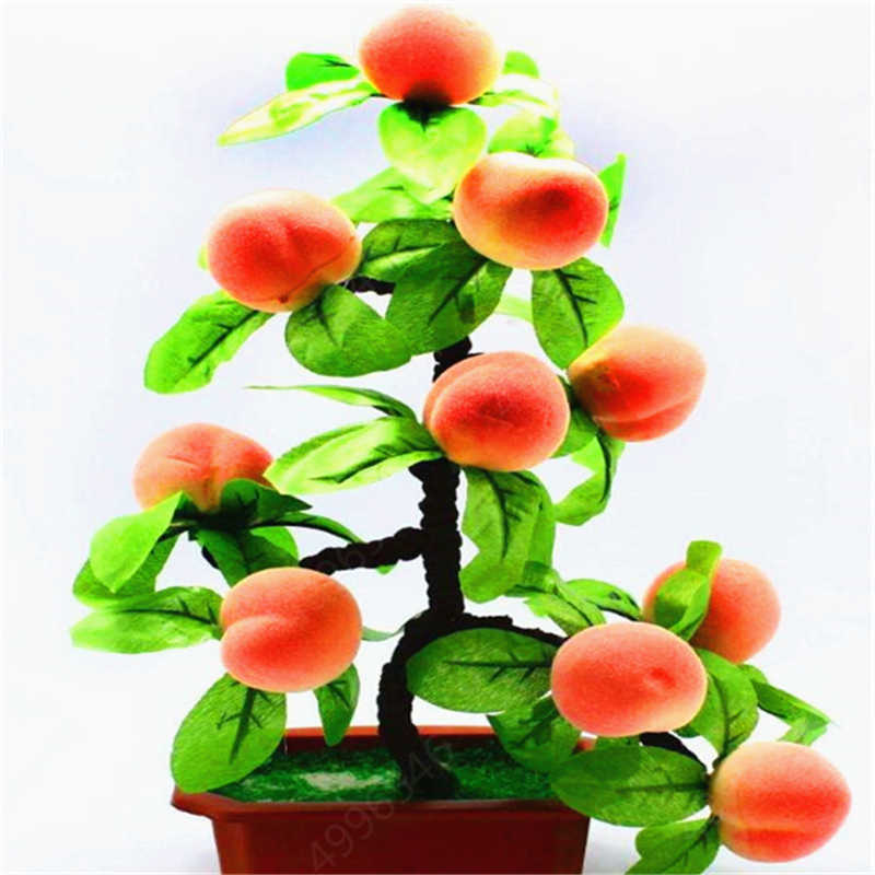 2019 Produk Baru! 2 Pcs Peach Pohon Bonsai Makan Lezat Juicy Daging Buah DIY Garden untuk Home Garden Pot Tanaman Gratis Pengiriman