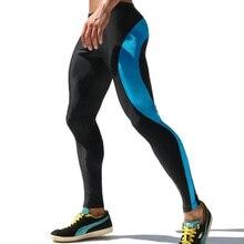 2016 Medias de Compresión Para Hombre Pantalones de Chándal de Alta Stretch Para Hombre Chándal de Poliéster Hombres Lápiz Pantalones pantalones de Chándal M-XL