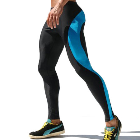 Mens Compression Track Pants High Stretch Mens Joggers Polyester Tights Men Pencil Pants Tracksuit Bottoms M-XL