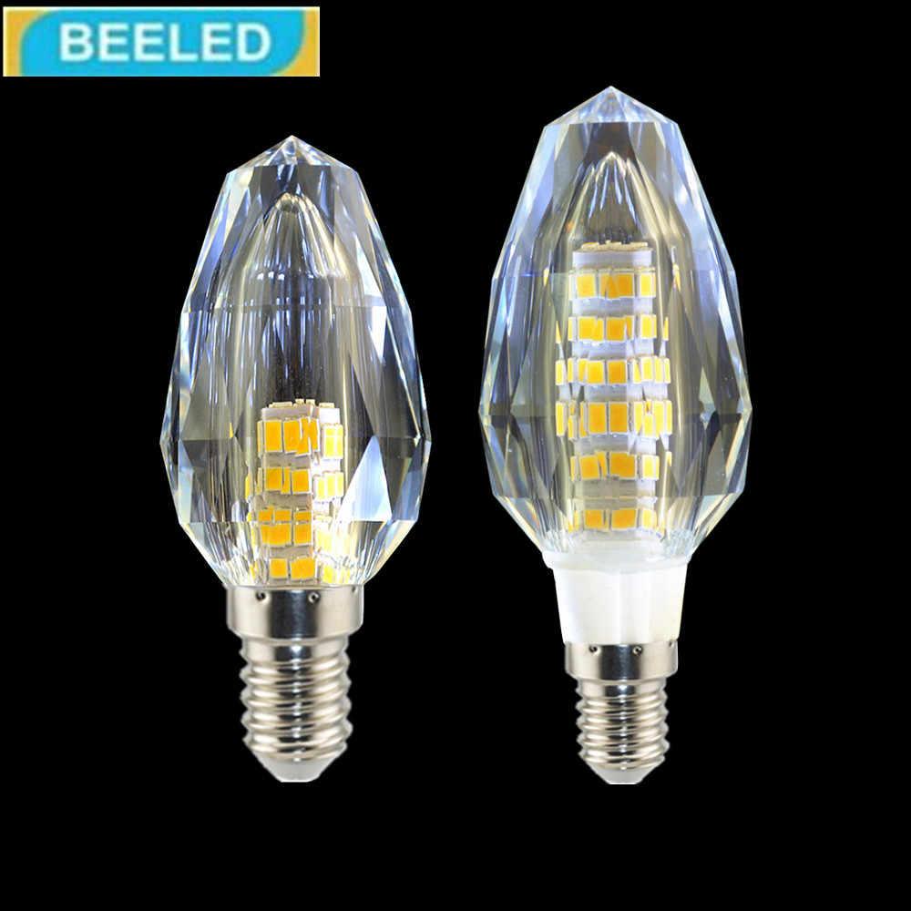 LED المصباح الكهربي 5 واط 7 واط 10 قطعة/الوحدة في الدافئة الأبيض كول الأبيض E14 عالية السطوع 110 فولت 220 فولت المنزل الإضاءة كريستال قلادة ضوء