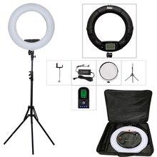 Yidoblo Czarny FE-480II 5600 K Ściemniania Aparat Lampa Pierścieniowa 480 Oświetlenie LED lampa Wideo Lampa LCD RC Fotograficzne + 2 M stojak + torebka