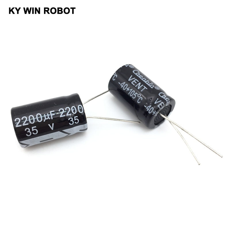 2200uF 35V 105C Radial Electrolytic Capacitor 16*25mm