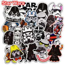 50 st Star Wars Cool Stickers för Skateboard Laptop Bicycle Car Styling Bagage Kylskåp Vinyl Dekal PVC DIY Vattentät Klistermärke