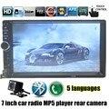 Высокое качество с камера заднего вида Черный 7 Дюймов 2 Din Автомобильный Проигрыватель HD Bluetooth Радио MP4 USB/FM TF touch экран