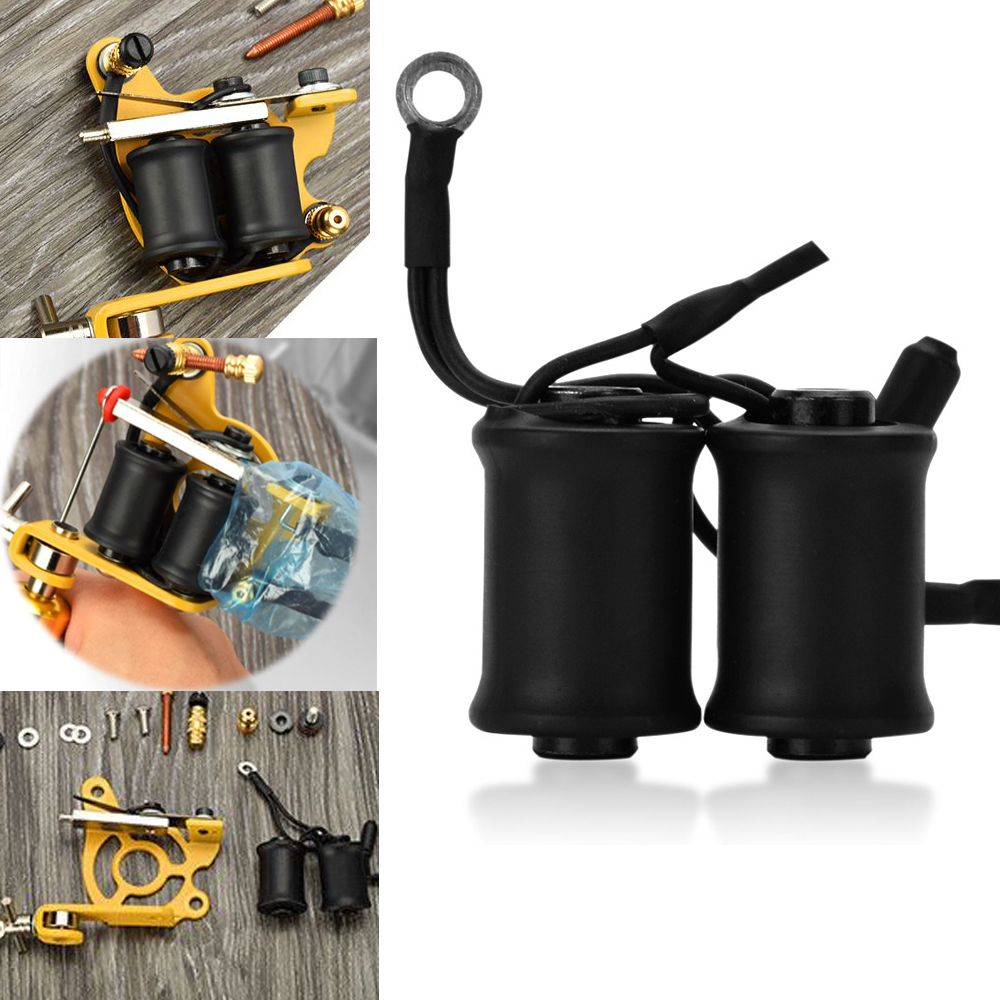 Black Tattoo Machine Gun Coils 10 Wraps Set Parts Supply Tattoo & Body Art Professional Tattoo Accesories for Shader Liner