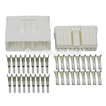 10 Sets 18 Pin sheathed white car connector  with terminal DJ7181-1.8-11/21 18P car connector original new 100% 5015 ms3108a20 18s ms3102a20 18p 9 american standard aviationplug bent core waterproof connector