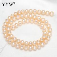 6 7mm Natural Freshwater Pearl Beads For Jewelry Making Bracelet Necklace Diy Potato Shape Cultured Grade