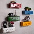 Prateleiras de parede Flutuante Retro Mala De Metal Industrial Do Vintage