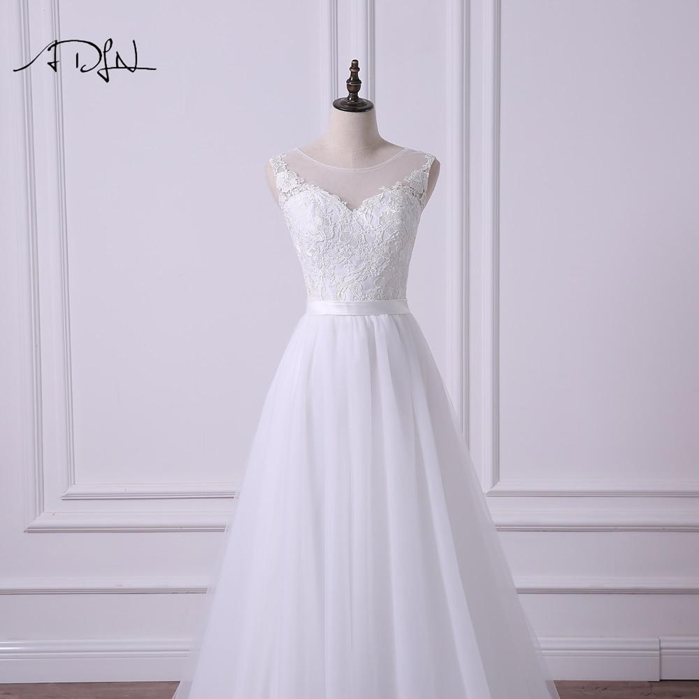 ADLN Scoop Αμάνικο φόρεμα Νέο A-line Γάμος - Γαμήλια φορέματα - Φωτογραφία 4