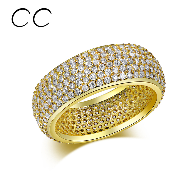 Free shipping full small crystal shinestone rings for women gold plated fashion finger rings charm jewelry for party CC195
