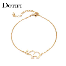 DOTIFI Stainless Steel Bracelet For Women Gold And Silver Color Origami Elephant Pulseira Feminina Lover's Engagement Jewelry