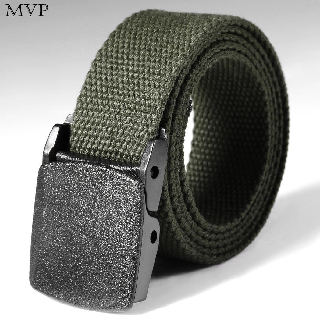 Men Belts Automatic Buckle Nylon Belt Male Army Tactical