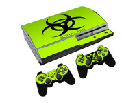 Biohazard Skin Sticker For Playstation 3 fat fat Console and Controller Decal for PS3 Wrap Cover free shippping