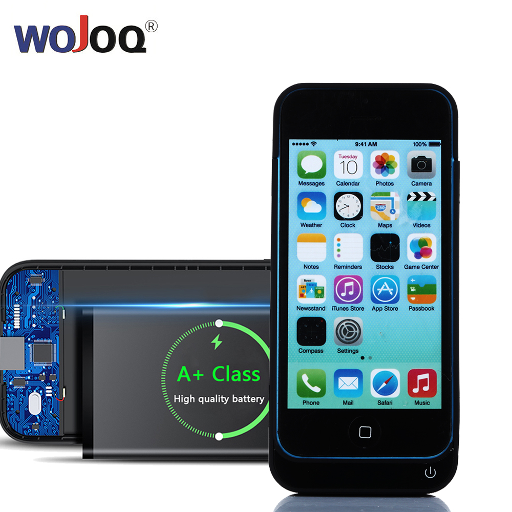WOJOQ External Battery Charger Case for iphone 5 5S 5C SE 4200mAh Power Bank Battery Case Charging for iphone SE RechargeableWOJOQ External Battery Charger Case for iphone 5 5S 5C SE 4200mAh Power Bank Battery Case Charging for iphone SE Rechargeable