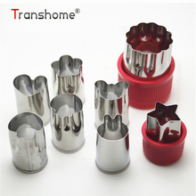 ФОТО Creative Stainless Steel Flower Shape Vegetable Fruit Cutter Mold Embossed Cutters Mold Carrot Fruits Slicers Kitchen Tools