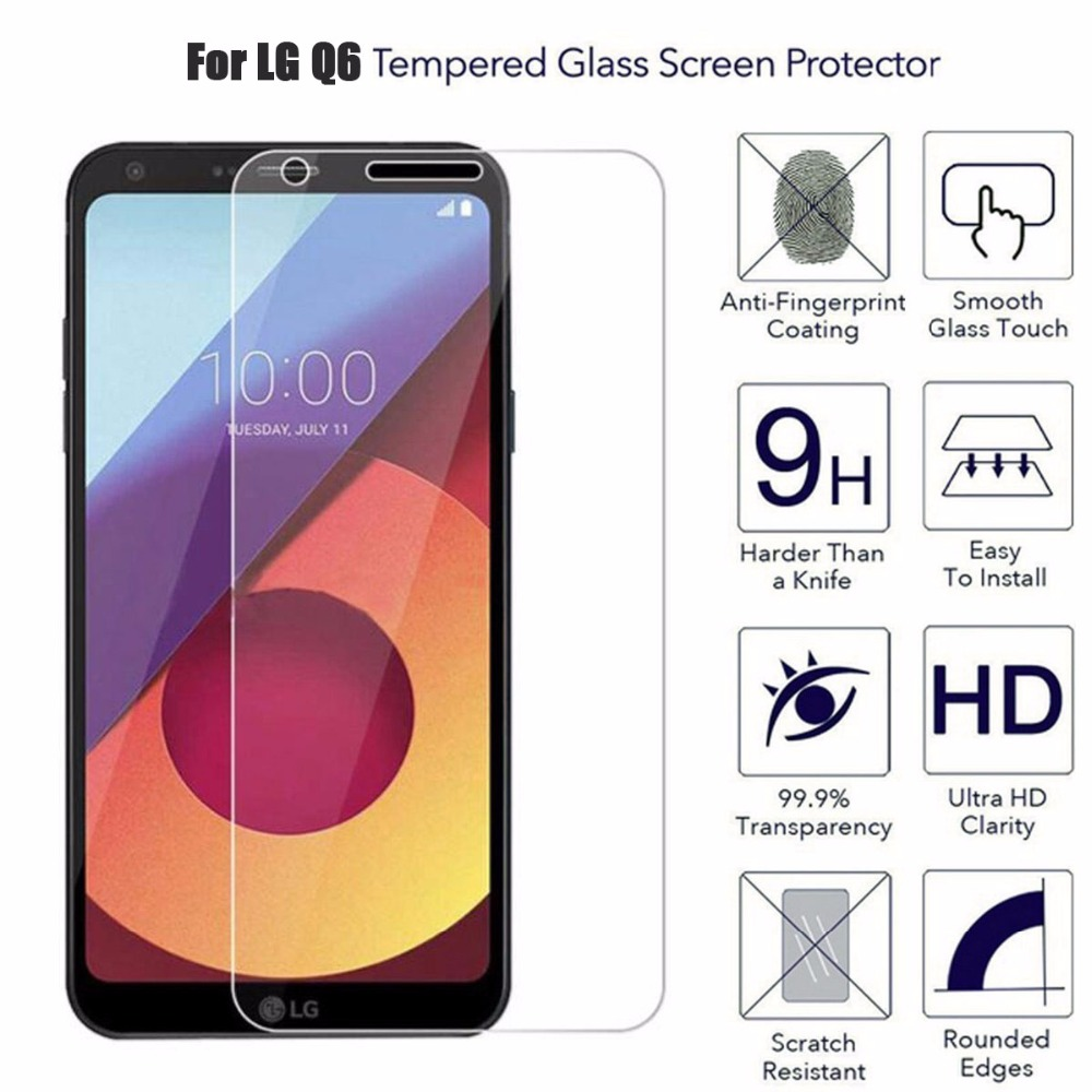 For LG Q6 Glass Film For LG Q6a Q6 Alpha Q6+ Q6 Plus M700N M700a Screen Protector 9H Tempered Glass Film Protective Case Cover