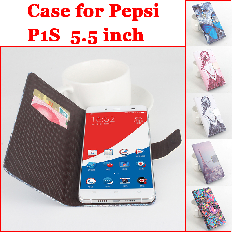 Painted For Pepsi P1S Case Luxury Leather Flip Transverse Covers For Pepsi P 1 S Cover Mobilephone Shell In Stock Free Shipping