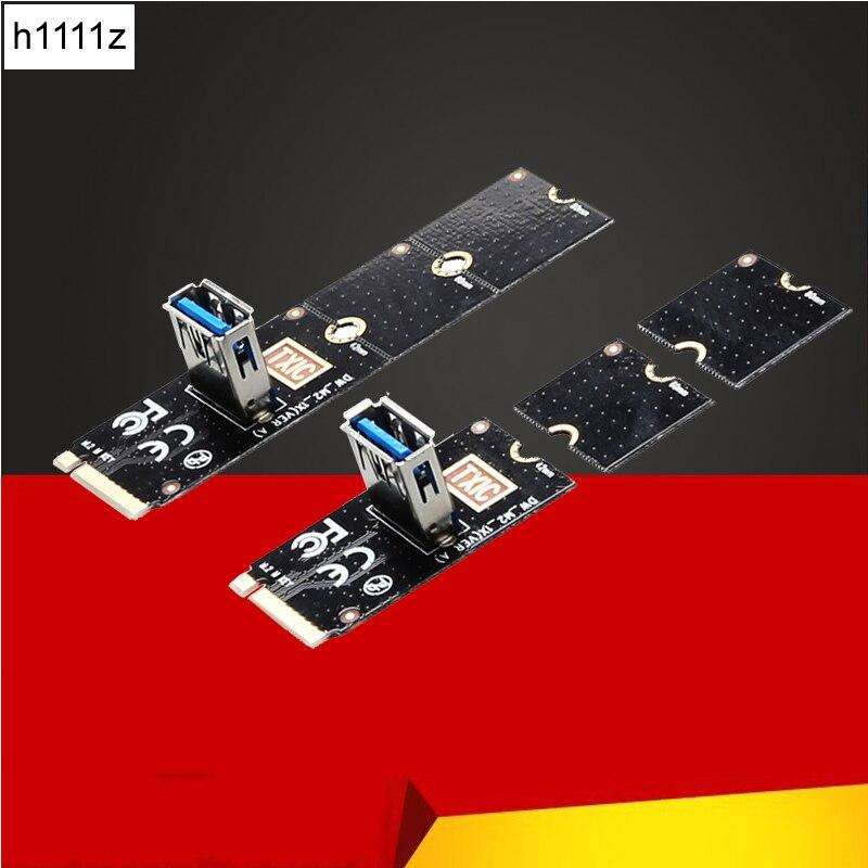 Ngff para pci-e riser cartão m2 slot para pcie placa de expansão conversor usb 3.0 adaptador extensor para placas gráficas para btc mineiro