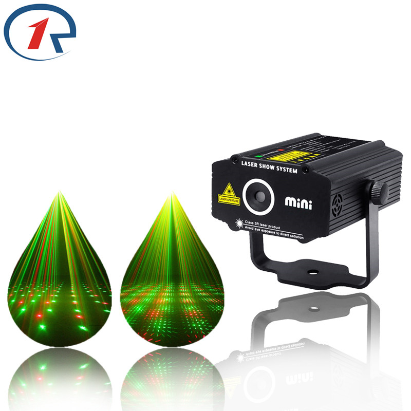 ZjRight HOT mini RG laser Projector stars 4 patterns Light DJ dance Disco bar Party Xmas effect Stage lighting Lights Show new hot 2 lens ceiling lamp laser light stage light dj disco stage 150mw rg recessed laser dj pro show lighting