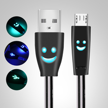 LED Micro USB Cable Fast Charging Data USB Charger Cable For