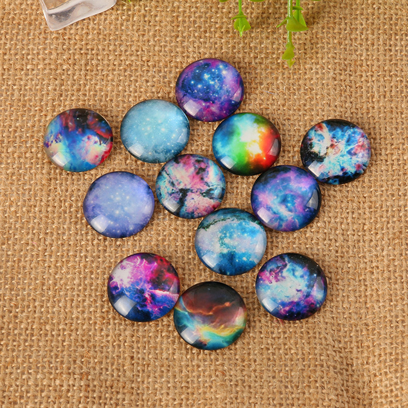 Mix Style Fantastic Sky Cabochon 10mm 12mm 14mm 18mm 20mm 25mm 30mm Flatback Photo Dome DIY Jewelry Accessories
