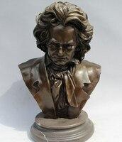 wholesale factory 11Western Art sculpture BRASS Marble Famous Musician head portrait Statue
