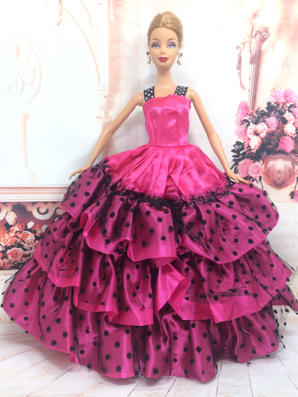 все цены на NK One Pcs Handmade Princess Wedding Dress Noble Party Gown For Barbie Doll Fashion Design Outfit Best Gift For Girl' Doll 054C