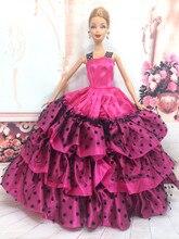 f2b12ed53200f NK Için Bir Adet El Yapımı Prenses Düğün Elbise Asil Parti Kıyafeti barbie  bebek kız 'moda tasarımı kıyafet için en iyi hediye d.