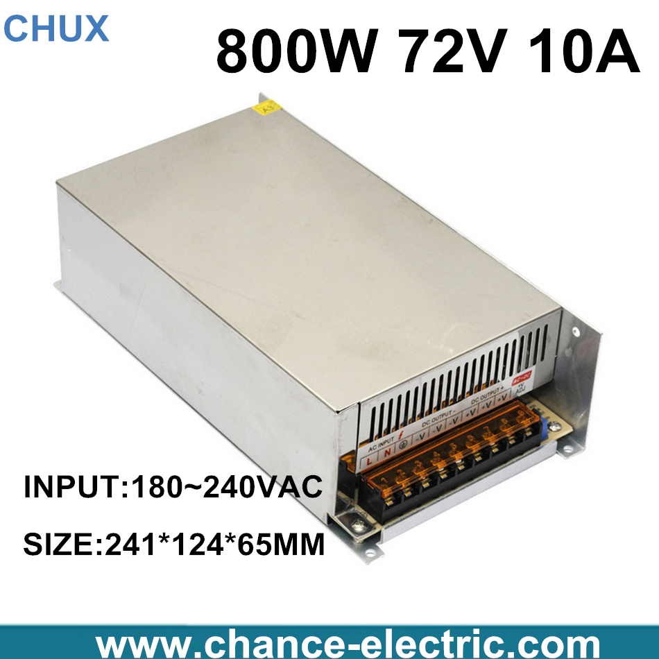 High power switching power supply 800W 72V 10A switching power supply AC to DC for LED strip light (S-800-72) 1200w 48v adjustable 220v input single output switching power supply for led strip light ac to dc