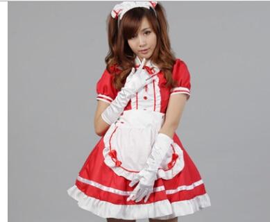 9e259ab48d34b セクシーフレンチメイド衣装甘いゴシックロリータドレスアニメコスプレシシーメイド制服プラスサイズハロウィン