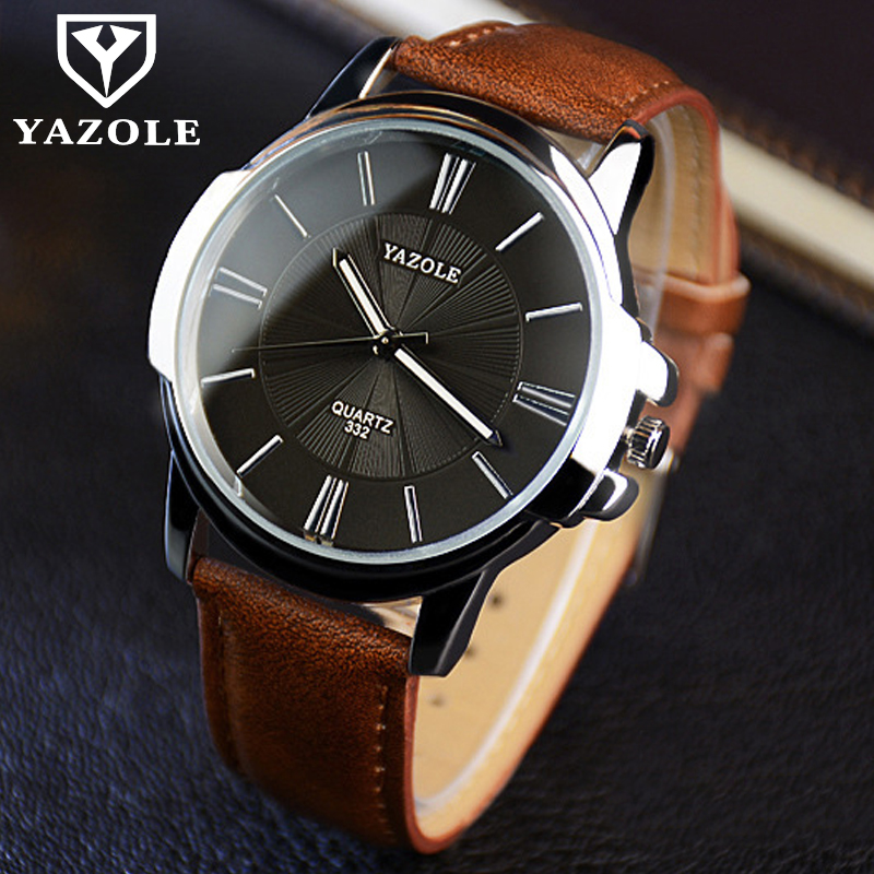 YAZOLE Fashion Quartz Watch Men Watches Luxury Male Watch Clock Business Mens Wrist Watch Gentlemen Simple Dropshipping цена