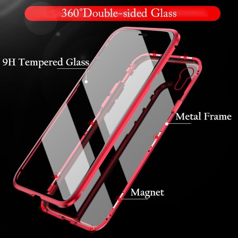 Μαγνητική θήκη από γυαλί για το iPhone Xs - Ανταλλακτικά και αξεσουάρ κινητών τηλεφώνων - Φωτογραφία 4