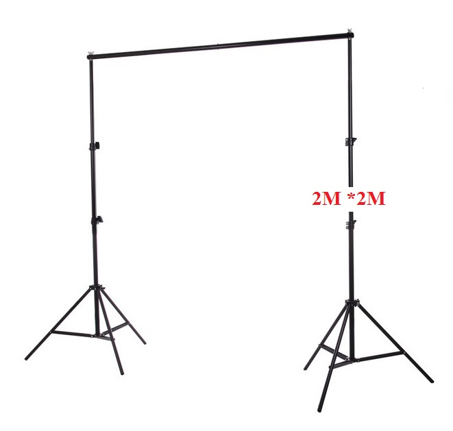 Photo Photography 2m*2m/ 6.56ft*6.56ft Aluminum  Backdrop Stand Background Support System + Carrying Bag Case kit ashanks 8 5ft 10ft background stand pro photography video photo backdrop support system for fotografia studio with carrying bag