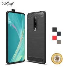 Oneplus 7 Pro Case Luxury Brush Style Soft Rubber Silicone Phone For Back Cover 1+7 Fundas