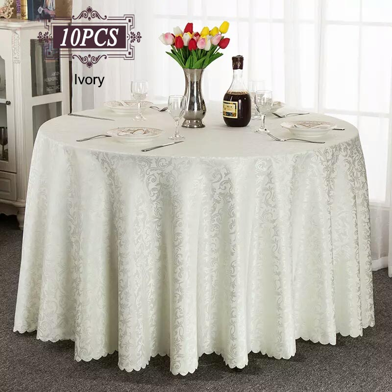 Ship Free 10PC Lot Elegant Table Cloth Dinner Table Cover 132 Round Seamless Tablecloth Mantle for