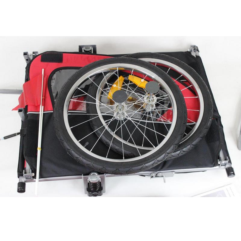 Aluminiu cadă cărucior pentru copii cu roți 20inch, trailer - Sport și în aer liber - Fotografie 2