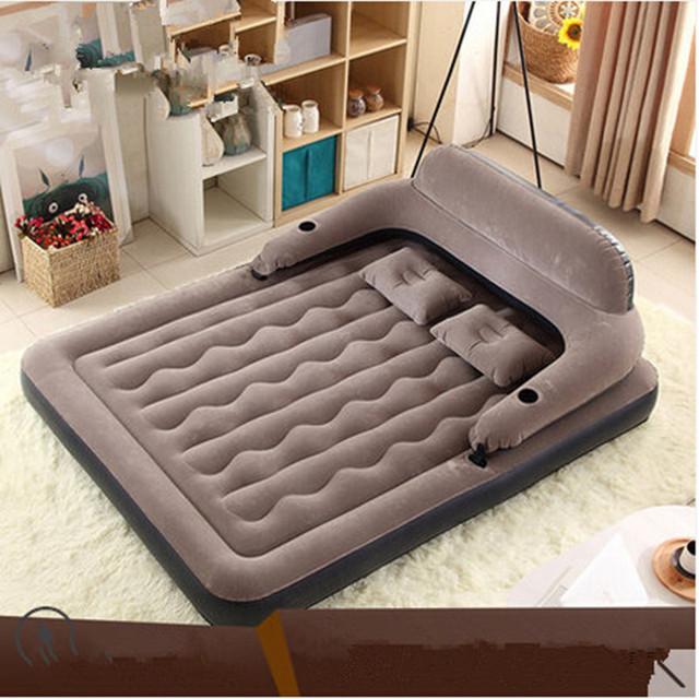 Cama de colchón de aire casa Engrosada sofá cama colchón inflable Portátil