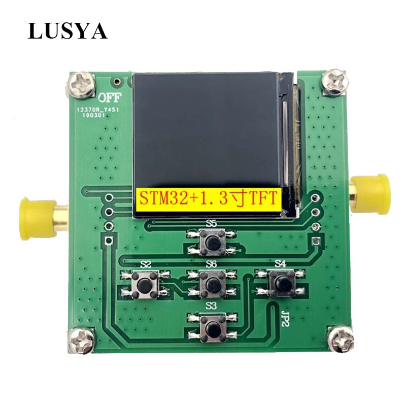 Source de signal RF Lusya HMC833 25 M-6 GHZ source de balayage en boucle verrouillée en Phase STM32 contrôle source ouverte TFT T0101