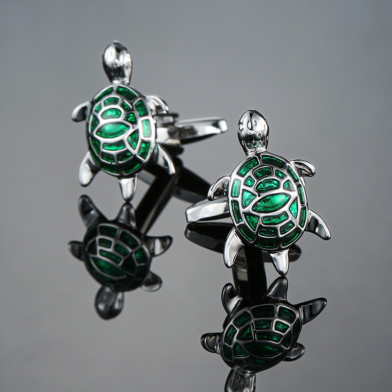 XK662 Other High-end Men's Cufflinks Animal Green Turtle Cufflinks French Business Shirt Accessories