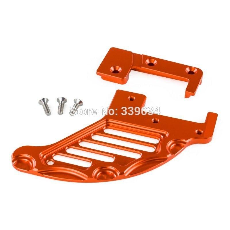NICECNC Rear Brake Disc Guard For KTM 125 150 200 250 300 350 400 450 500 530 625 EXC EXCF EXC-F XC XCF XC-F XCW XCFW SMR SXC billet cnc rear brake disc guard w caliper bracket for ktm 125 450 sx sx f smr xc xc f 2013 2016