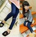 2016 Girl's Plus Velvet Thickening Jeans Autumn and Winter Children's Pants Child Legging Kids Elastic Trousers