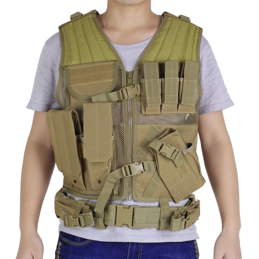 Army Fans Men Outdoor Military Tactical Vests Combat Assault Vest Army Hunting Airsoft Field Battle Games Jungle Equipment