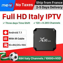 X96 MINI IPTV Italy Arabic Portugal Turkey France IP TV X96MINI Android 7.1 1G+8G/2G+16G