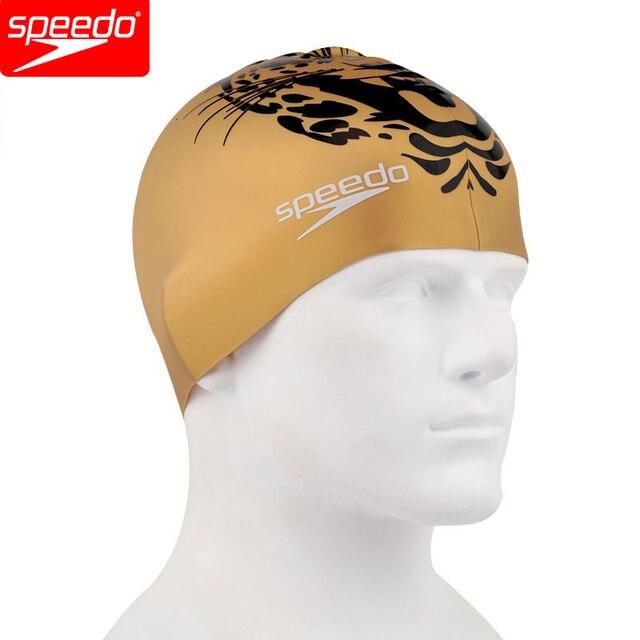 speedo professionnel silicone bonnet de bain d 39 or grande taille pour hommes ou femmes cheveux. Black Bedroom Furniture Sets. Home Design Ideas
