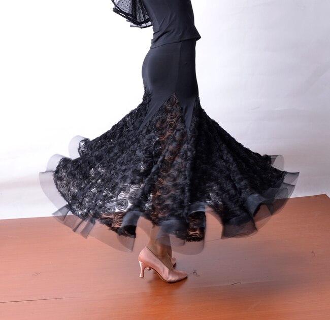 Danse moderne dentelle poisson os grand balancement pratique jupe