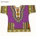 Г-н Hunkle Новый Дизайн 100% Хлопка Африканская Печати Dashiki Одежда Свободные Dashiki Футболки Для Женщин Мужчин