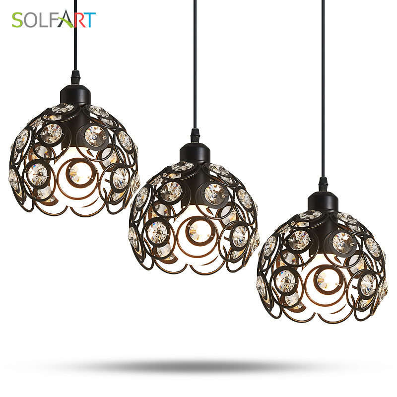 Chandelier Crystal Lamp Iron Lustres Black  Modern Ceiling Cord Lamps Chandeliers For Room Dining  LED Light Fixtures Bar Lamps noosion modern led ceiling lamp for bedroom room black and white color with crystal plafon techo iluminacion lustre de plafond